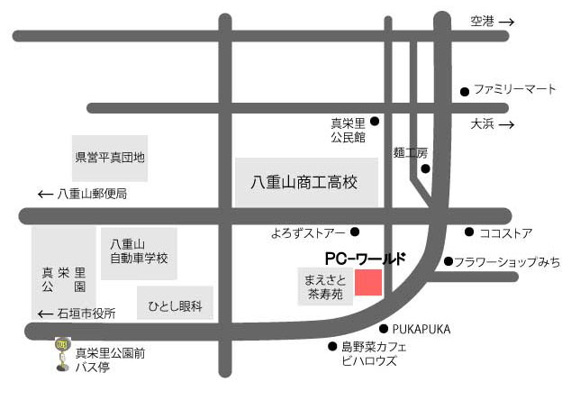 PC-ワールド周辺地図
